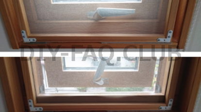 外開き窓に網戸枠を自作!レールなし・内倒し窓でも取付られる!