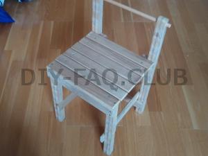 すのこを材料に椅子を作るリメイクDIYの方法