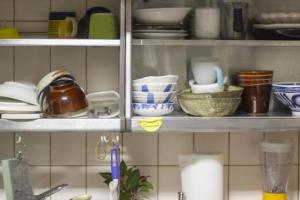 スチールラックの食器棚を自作したい